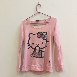 06838868f Forever 21 · Forever 21 Pink Ribbed Hello Kitty Graphic Sweater